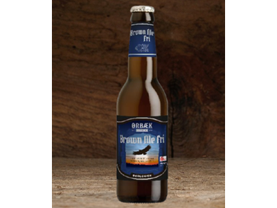 Øko Ørbæk Brown ale Fri 0,5 % 33 cl 12 stk