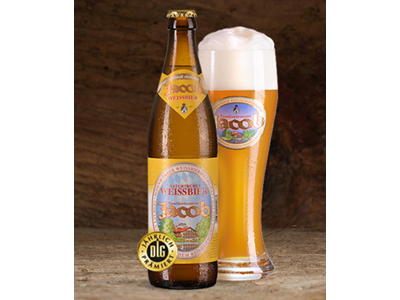 Jacob Weissbier Hell 50 cl. 20 stk.